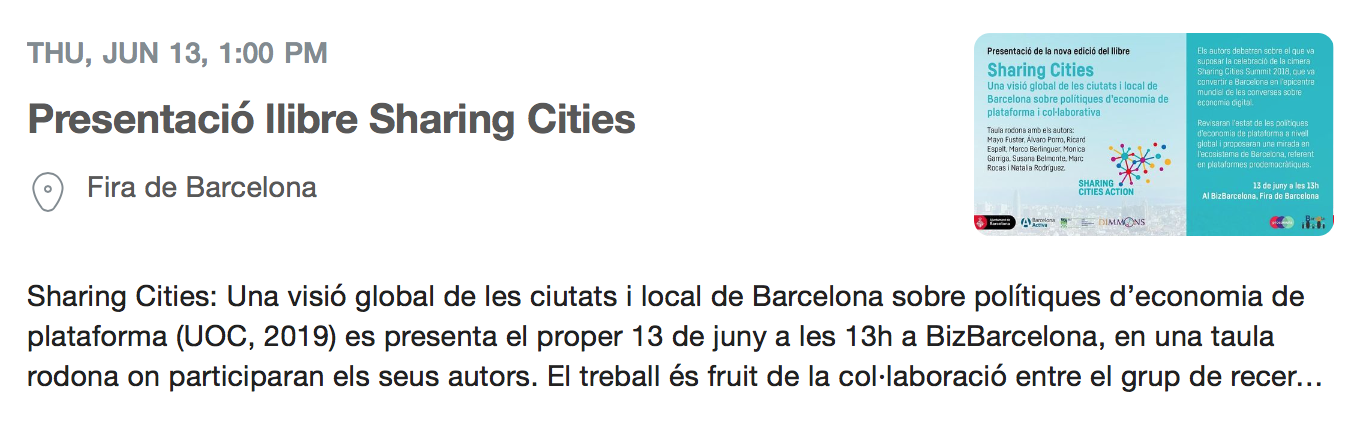 Llibre Sharing Cities